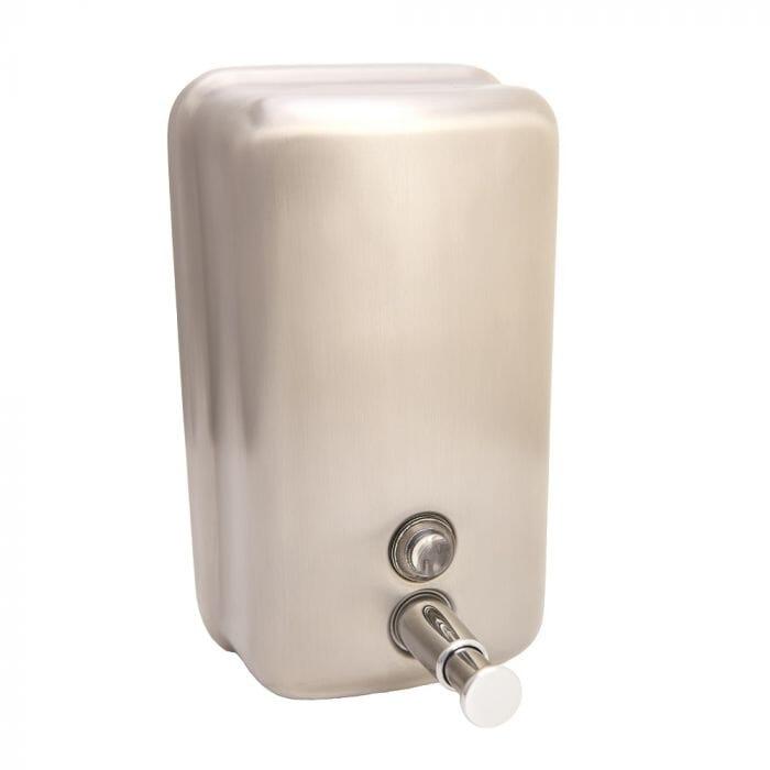 Promop Golden Hands Liquid Hand Soap Dispenser 1.2lt Capacity - Lockable Stainless Steel