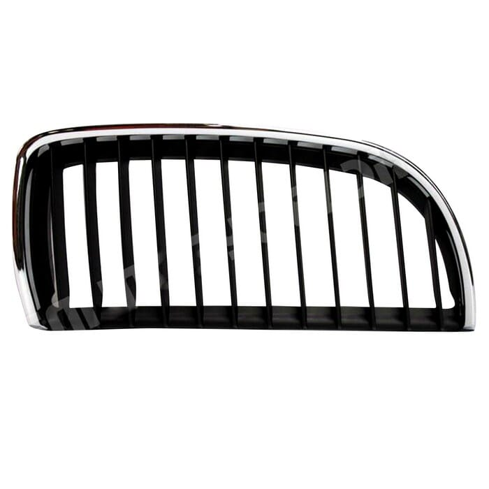 Bmw E90 Preface Main Grill Black Fin With Chrome Frame Right