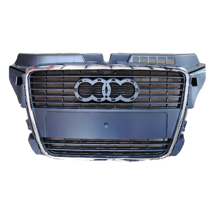 Audi A3 Main Grill With Chrome Frame