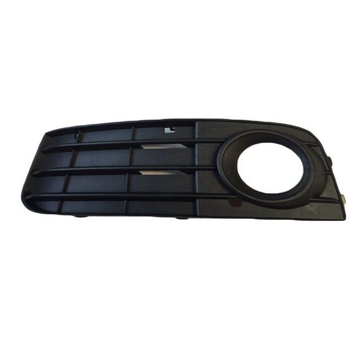 Audi A4 B8 Preface Front Bumper Grill  With Hole Left Plain Black