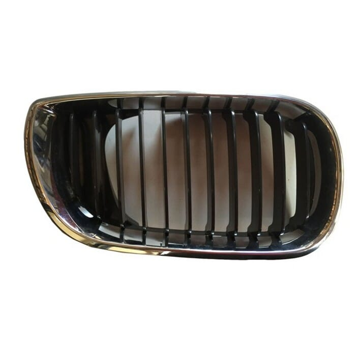 Bmw E46 Facelift Main Grill Chrome Frame With Black Fin Right