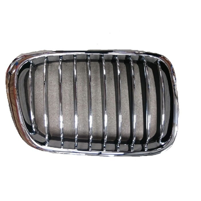 Bmw E46 Preface Main Grille Chrome Frame With Chrome Fins Right
