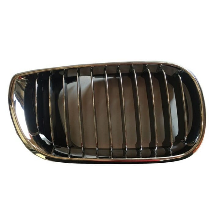 Bmw E46 Facelift Main Grill Chrome Frame With Chrome Fin Right