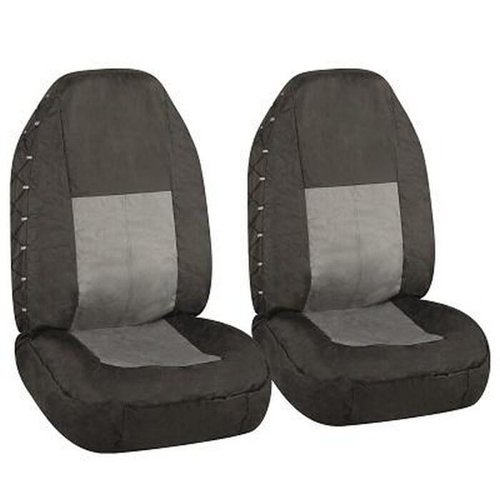 Universal Seat Cover 4X4 Black+Grey Front