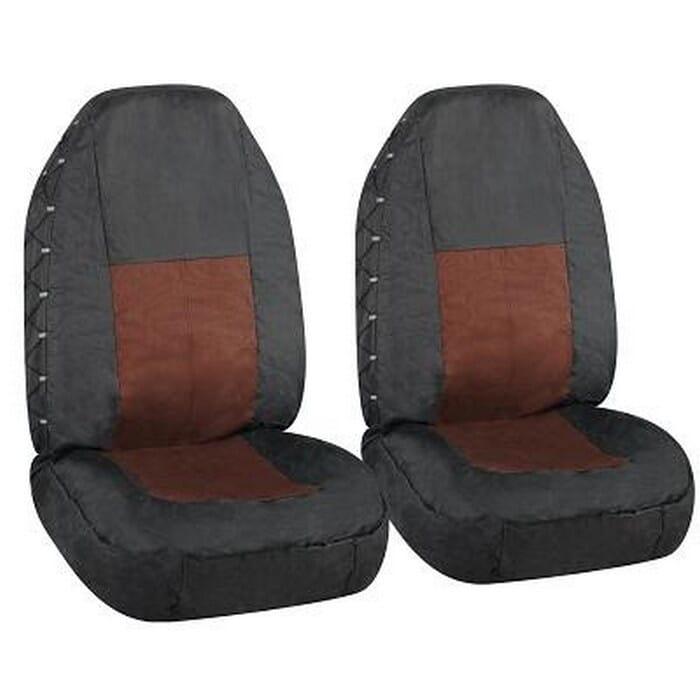 Universal Seat Cover 4X4 Black+Mocha Front