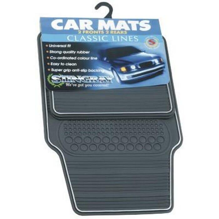Universal Classic Rubber Car Mat Set