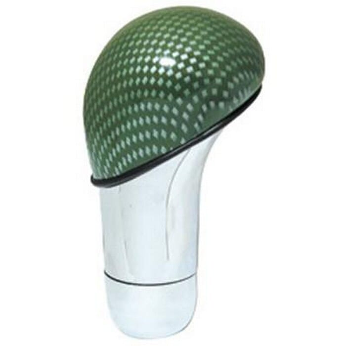 Universal Gear Lever Knob - Green/Chrome