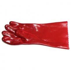 Pinnacle PVC RED GLOVE OPEN CUFF 35CM (PRICED PER PAIR )