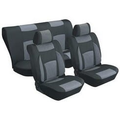 Universal 8 Pcs Seat Cover - Grey