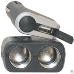 Start My Car Twin Socket With USB Port-Black