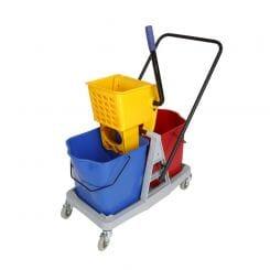 Promop Double Mop Bucket With Wringer - 50lt (2 x 25lt Buckets)